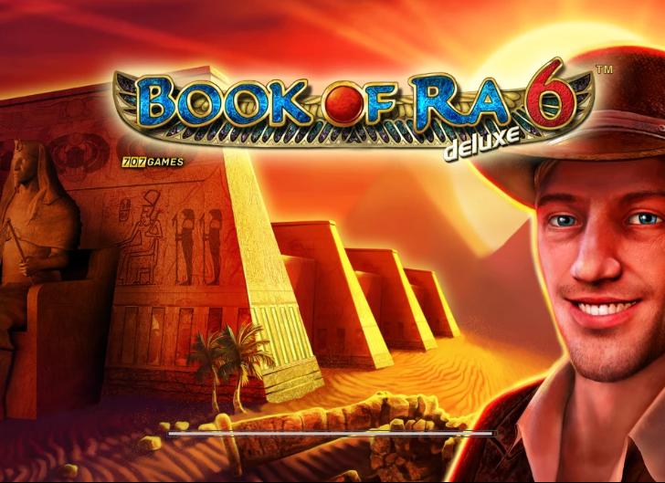 Czołówka do gry Book of Ra Deluxe 6. Bonus Book o Ra to dziesięć darmowych spinów, RTP Book of Ra wynosi 94,26%.