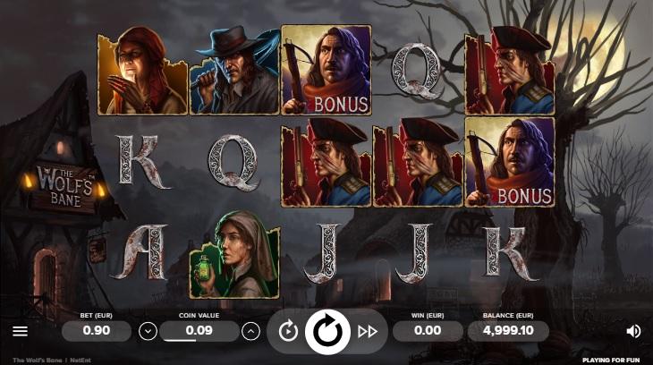 Bonus The Wolfs Bane to symbol mężczyzny z kuszą. RTP The Wolfs Bane wynosi ponad 96%.