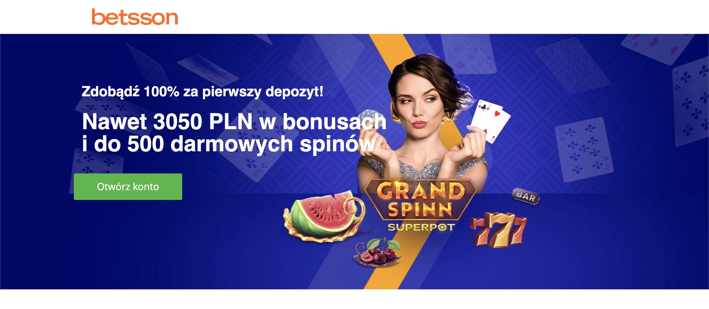 Betsson kasyno - bonus powitalny, ofert powitalna i promocje dla stałych graczy! Zaloguj się do Betsson!