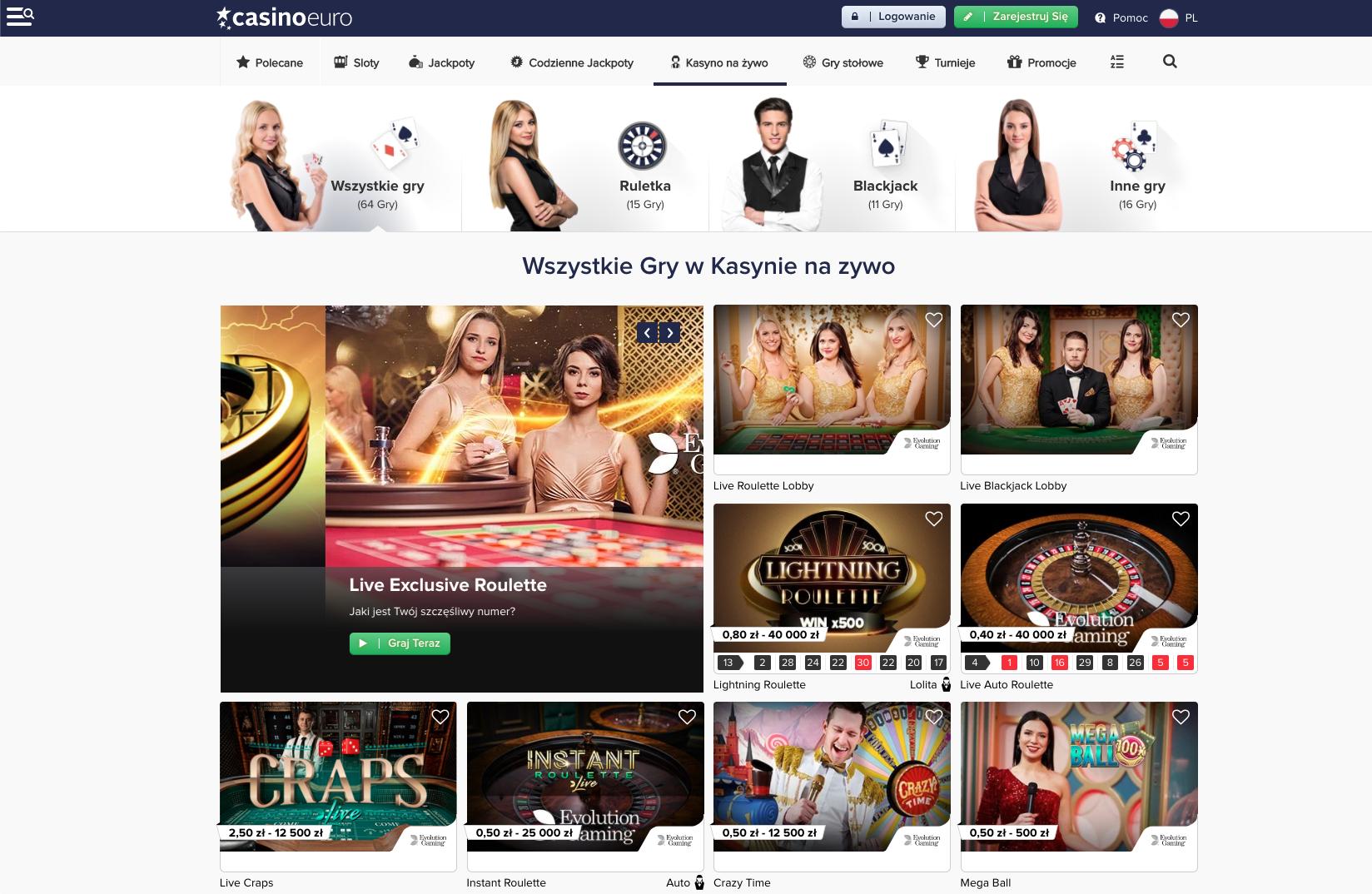 Dowiedz się, jaka oferta powitalna i bonus powitalny czekają Cię w CasinoEuro!