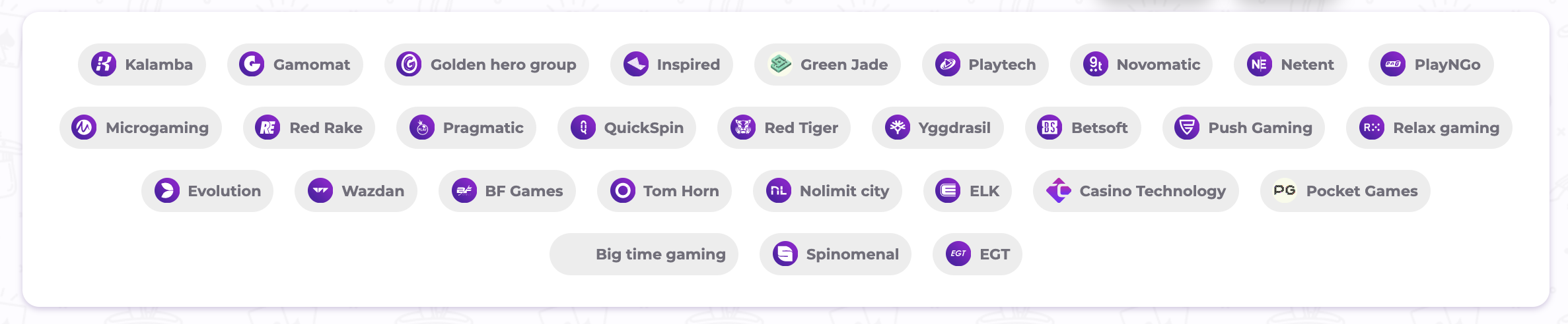 Cadabrus oferuje ogromny wybór gier różnych producentów, na których możesz wykorzystać kod promocyjny i darmowe spiny.
