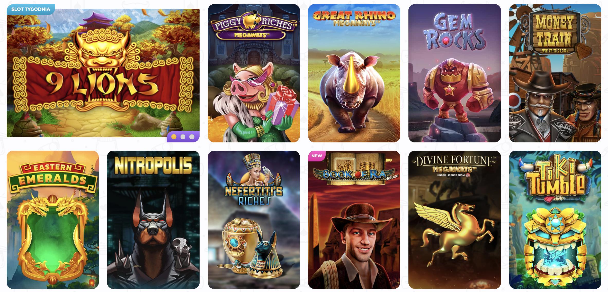 Zobacz ofertę gier Cadabrus Casino i opinie o nich!