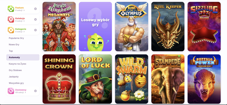 Sprawdź szeroką ofertę gier w Nomini kasyno, na których wykorzystać możesz darmowe spiny.